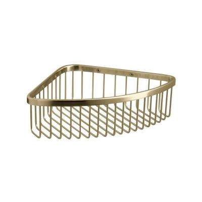 Large Shower Basket in Vibrant French Gold
