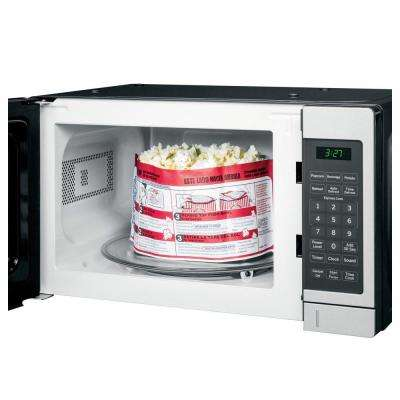 0.7 cu. ft. Small Countertop Microwave in Stainless Steel
