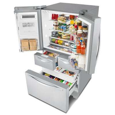 26 cu. ft. French Door Refrigerator in Monochromatic Stainless Steel with Dual Cooling System