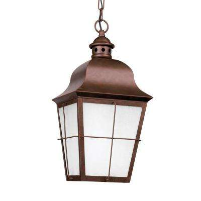 Chatham Weathered Copper 1-Light Outdoor Hanging Pendant