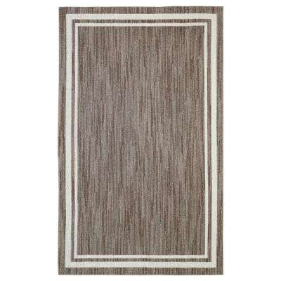 Border Loop Taupe Cream 10 ft. x 13 ft. Area Rug