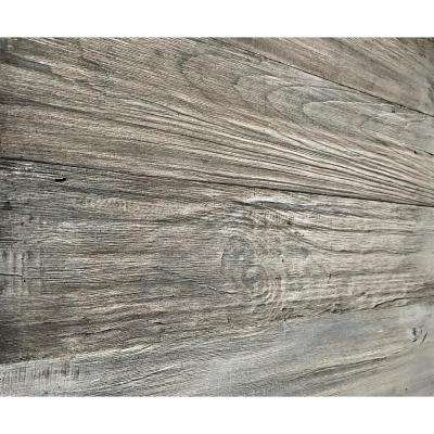 3D Barn Wood 5/16 in. x 4 in. x 24 in. Reclaimed Wood Decorative Wall Planks in Gray Color (10 sq. ft. / Case)