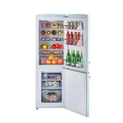 Retro 21.6 in. 7 cu. ft. Bottom Freezer Refrigerator in Powder Blue, ENERGY STAR
