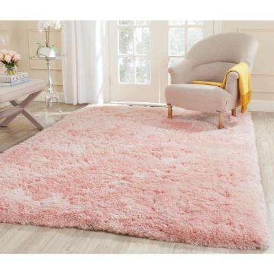Arctic Shag Pink 3 ft. x 5 ft. Area Rug