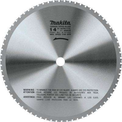 14 in. (70T) Carbide-Tipped Metal Cutting Blade Ferrous Metal