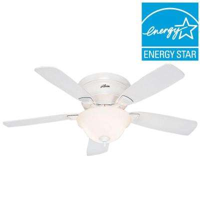 Low Profile 48 in. White Ceiling Fan