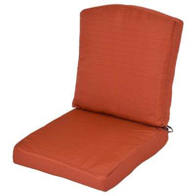 oak cliff quarry red replacement 2piece outdoor dining chair cushion