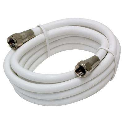 6 ft. White RG6 Coax Cable