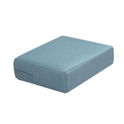 Charlottetown Washed Blue Replacement Outdoor Ottoman Cushion