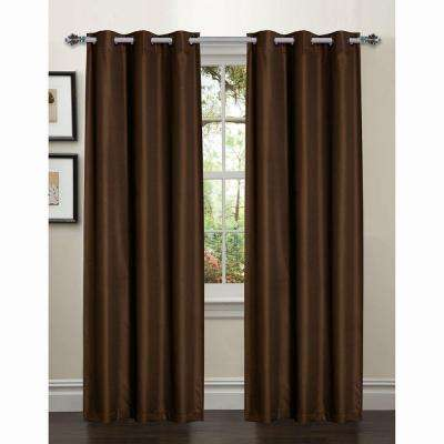 Semi-Opaque Galaxy Room Darkening Grommet Curtain Panel