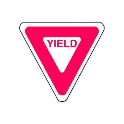 22 in. x 22 in. Yield Traffic Sign