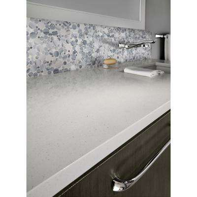 Alaska Gray Pebbles 12 in. x 12 in. x 10 mm Polished Marble Mesh-Mounted Mosaic Tile