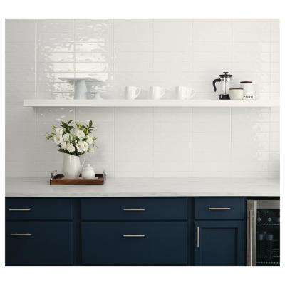 LuxeCraft White 3 in. x 12 in. Glazed Ceramic Wall Tile (12 sq. ft. / case)