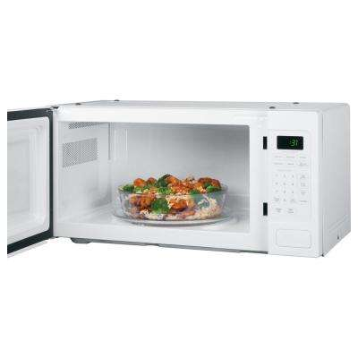 Profile 1.1 cu. ft. Countertop Microwave in White with Sensor Cooking
