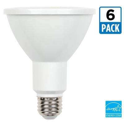 75W Equivalent Cool White PAR30 Dimmable LED Flood Light Bulb (6-Pack)