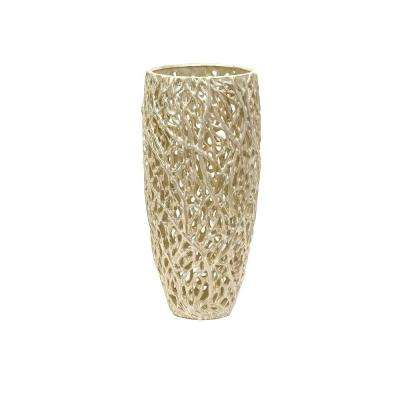 Lenor 17 in. Ceramic Decorative Vase in Ivory