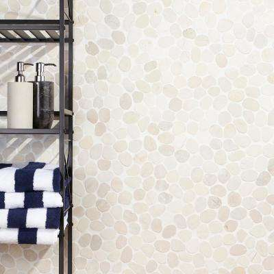 Countryside Sliced Round 11.81 in. x 11.81 in. White Floor and Wall Mosaic (0.97 sq. ft. / sheet)