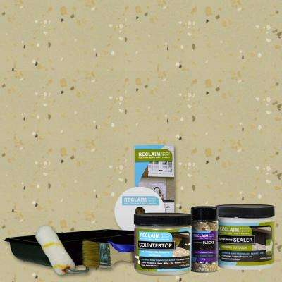1-pt. Khaki All in One Multi Surface Interior/Exterior Countertop Makeover Kit