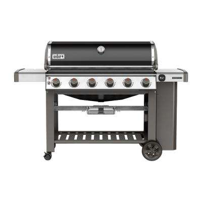 Genesis II E-610 6-Burner Propane Gas Grill in Black