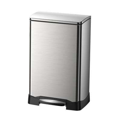 10.5 Gal. Neo Cube Indoor Trash Can with Soft Close in Stainless