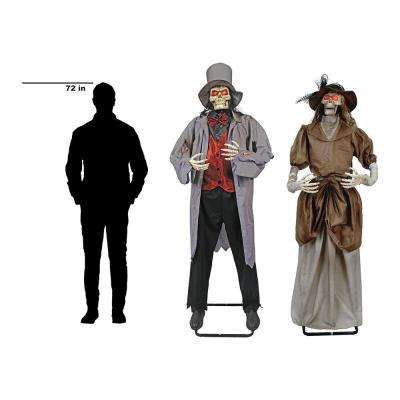 Full Size  Halloween Victorian Couple with IR Interactivity (Set of 2)