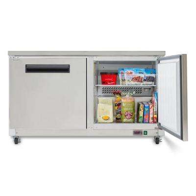 X-Series 15.5 cu. ft. Double Door Undercounter Commercial Freezer in Stainless Steel