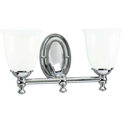 Victorian Collection 2-Light Chrome Vanity Fixture