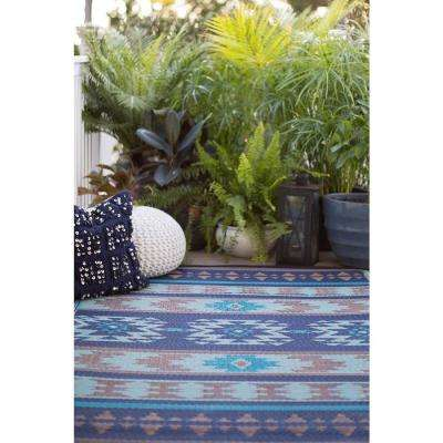 Cusco Indoor/Outdoor Blue 5 ft. x 8 ft. Area Rug