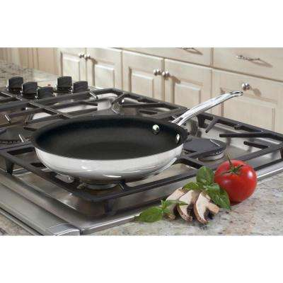 Chef's Classic 10 in. Open Non-Stick Skillet in Stainless