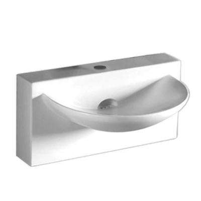 Isabella Wall Mounted Bathroom Sink In White
