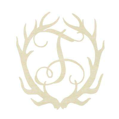 19.5 in. Unfinished Antler Monogram (T)