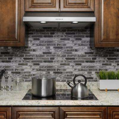 30 in. 217 CFM Ducted Under Cabinet Range Hood in Stainless Steel with LEDs and Carbon Filters