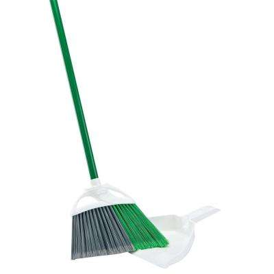 Precision Angle Broom with Dust Pan