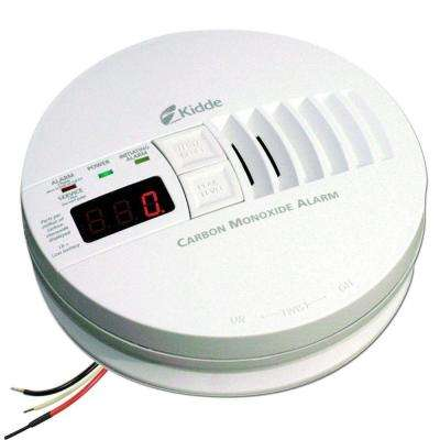 Hardwired Interconnectable 120-Volt Carbon Monoxide Alarm with Digital Display and Battery Backup