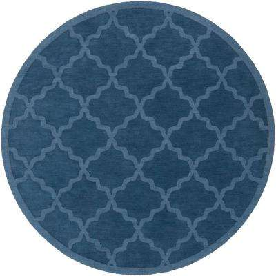 Central Park Abbey Cobalt 6 ft. x 6 ft. Round Indoor Area Rug