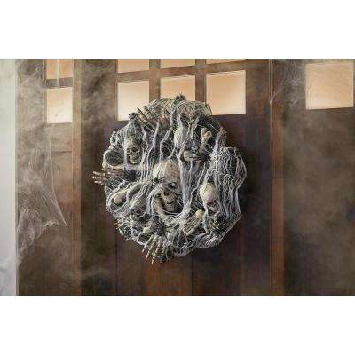 30 in. Freaky Skeleton Artificial Halloween Wreath