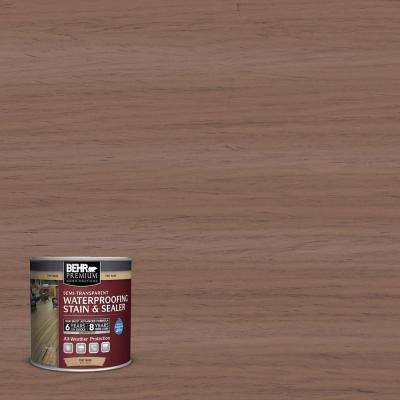 8 oz. #ST148 Adobe Brown Semi-Transparent Waterproofing Stain and Sealer Sample
