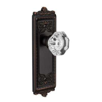 Windsor Timeless Bronze Plate with Privacy Chambord Crystal Knob