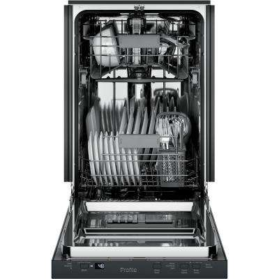 Profile 18 in. Top Control Dishwasher in Black with Stainless Steel Tub, 47 dBA