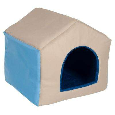 Medium Blue 2-in-1 Dog House Pet Bed