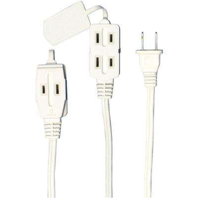 6 ft. 3-Outlet Indoor Extension Cord - White