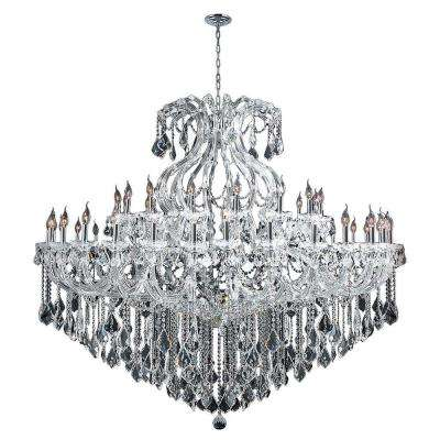 Maria Theresa Collection 48-Light Chrome Crystal Chandelier