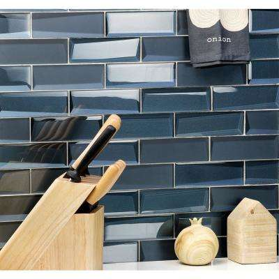 Wister Dusk 12.14 in. x 12.53 in. 12mm Polished Glass Mosaic Wall Tile (1.06 sq. ft. per Sheet)