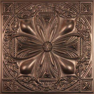 Avalon Faux Bronze 2 ft. x 2 ft. Lay-in or Glue-up Ceiling Panel (Case of 6)