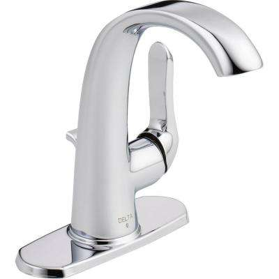 Soline 4 in. Centerset Single-Handle Bathroom Faucet with Metal Drain Assembly in Chrome