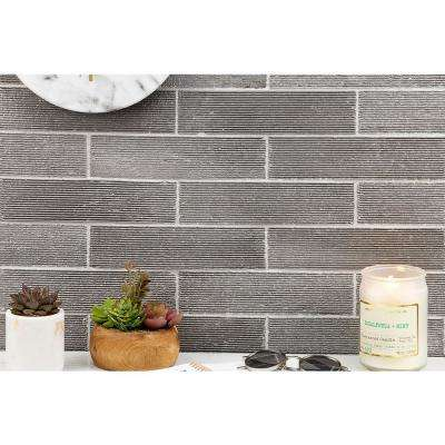 Weston Ridge Dark Gray 2 in. x 9 in. 11mm Glazed Clay Subway Wall Tile (33-piece 5.64 sq. ft. / box)