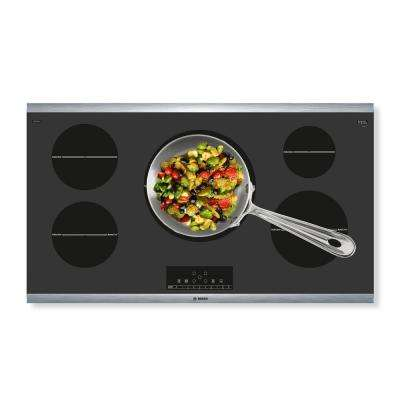 800 Series 36 in. Induction Cooktop in Black with Stainless Steel Frame and 5 SpeedBoost Elements