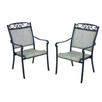Aluminum Hampton Bay Outdoor Dining Chairs Patio Chairs Patio Furniture The Home Depot
