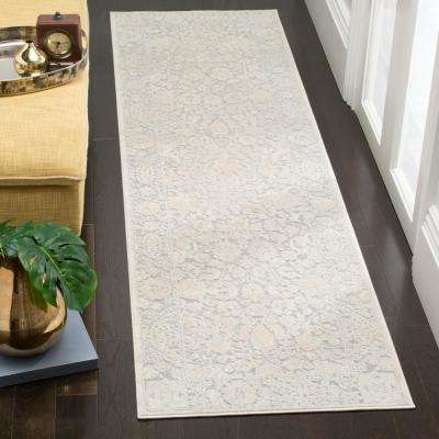Reflection Light Gray/Cream 2 ft. x 8 ft. Runner Rug