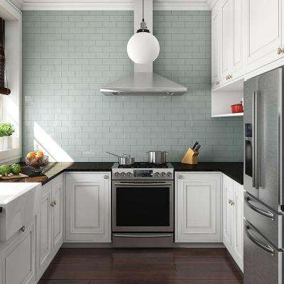 Tessera Subway Blue Smoke 3 in. x 6 in. Glass Wall Tile (1 sq. ft. / pack)